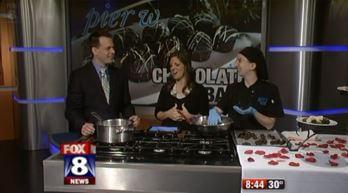 Fox 8 showcases Pier W's Chocolate Bar - Pier W Restaurant