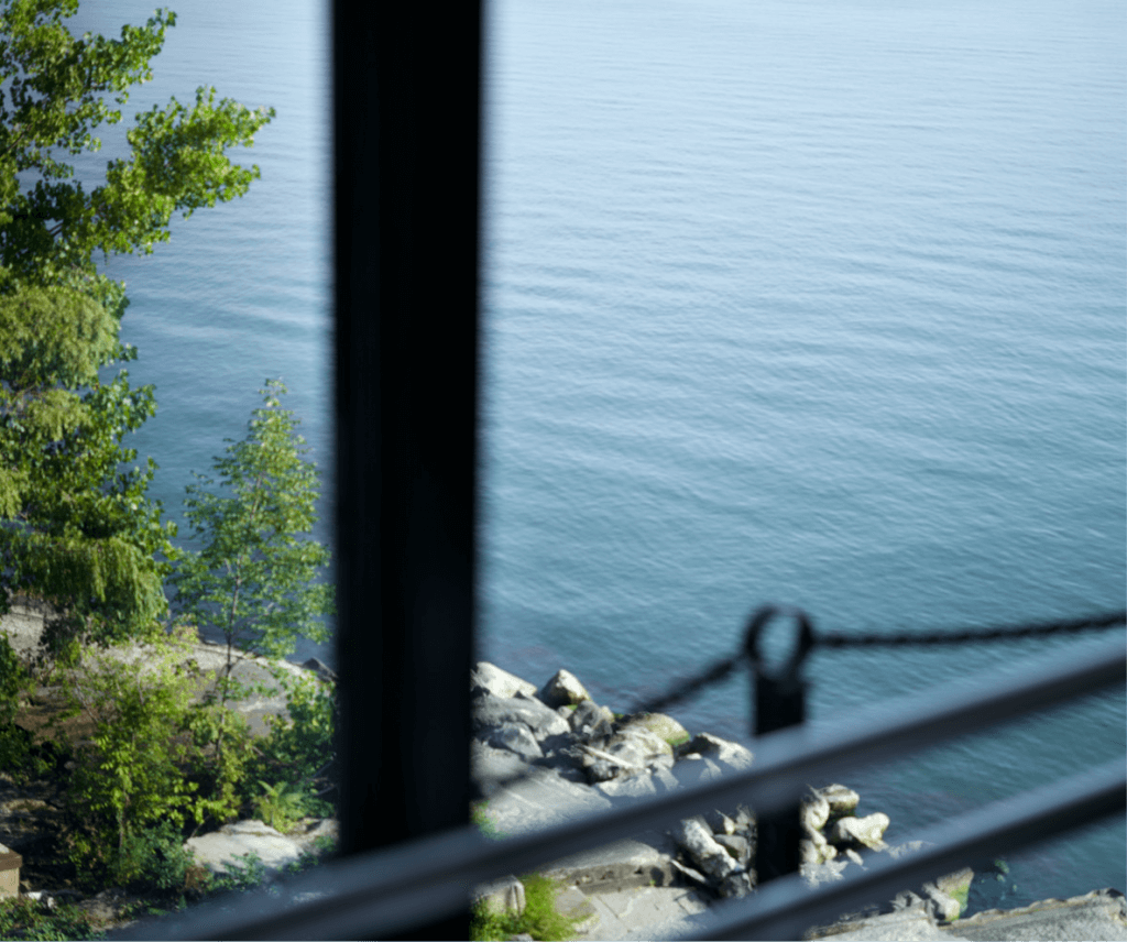 A view of the waters of Lake Erie from Pier W Restaurant and Lounge