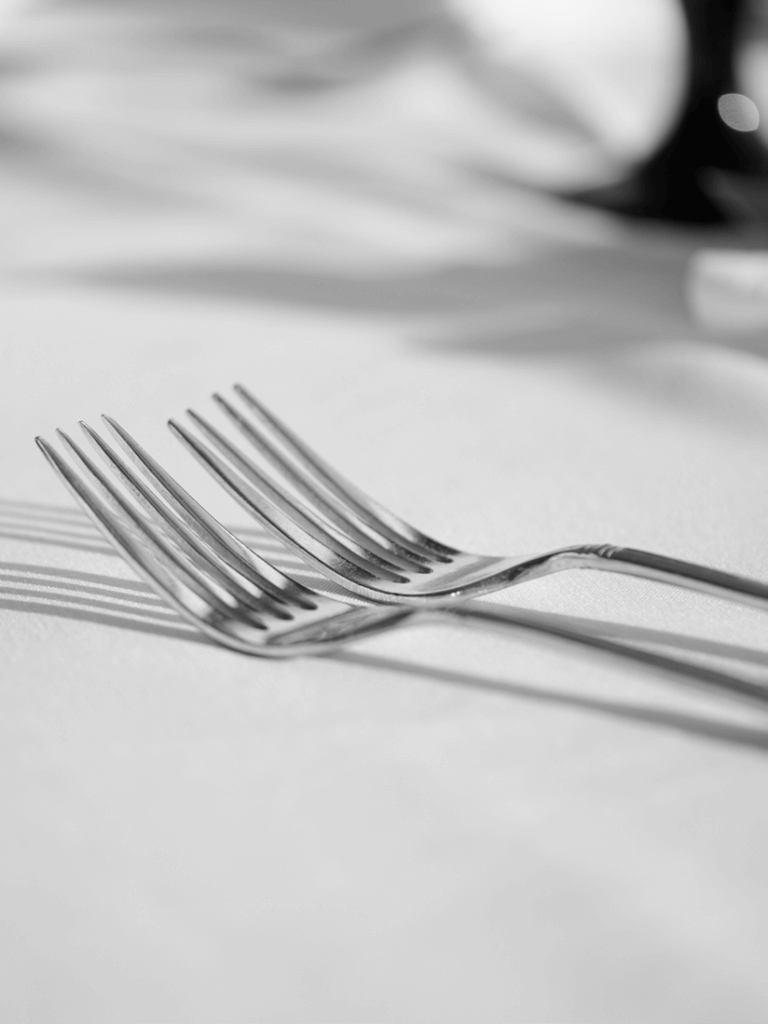 Flatware on the table at Pier W Restaurant and Lounge